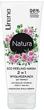 Parfums et Produits cosmétiques Masque exfoliant visage à l'extrait de rose, thé blanc bio et framboises - Lirene Natura Eco Peeling-Mask
