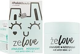 Gel de soin au jus d'aloe vera pour visage, cou et décolleté - FlosLek ZeLove Moisturizing Aloe Water Bomb 2in1 — Photo N2