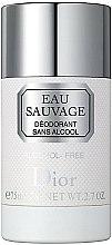 Parfums et Produits cosmétiques Dior Eau Sauvage - Déodorant stick sans alcool