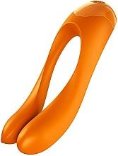 Parfums et Produits cosmétiques Vibromasseur intime pour doigt, orange - Satisfyer Candy Cane Finger Vibrator Orange