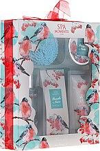 Parfums et Produits cosmétiques Spa Moments Vanille Noire - Set (gel douche/100ml + lotion/60ml + beurre/50ml + sels de bain/50g + fleur de bain)