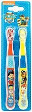 Parfums et Produits cosmétiques Set brosses à dents souples, rouge + jaune - Nickelodeon Paw Patrol (2 pcs)