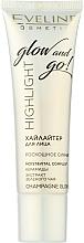 Parfums et Produits cosmétiques Enlumineur liquide pour le visage - Eveline Cosmetics Highlight Glow And Go