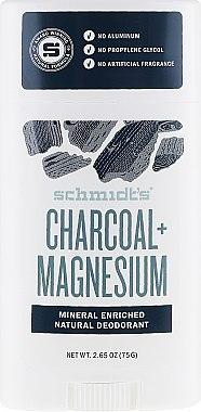 Déodorant stick naturel, Charbon actif et Magnésium - Schmidt's Deodorant Charcoal + Magnesium Stick