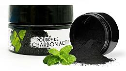 Parfums et Produits cosmétiques Poudre blanchissante de charbon actif pour dents, Menthe - Keeth Mint-flavoured Activated Charcoal Bleaching Powder