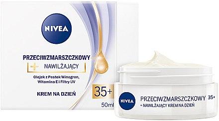 Crème de jour à l'huile de pépins de raisin et vitamine E - Nivea Creme Anti-Wrinkle Day Care — Photo N1
