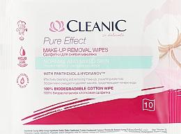Parfums et Produits cosmétiques Lingettes démaquillantes au panthénol, 10 pcs - Cleanic Pure Effect Moisturizing