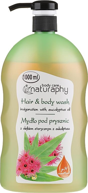 Shampooing et gel douche à l'huile d'eucaliptus - Bluxcosmetics Naturaphy Eucalyptus Oil Hair & Body Wash — Photo N1