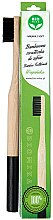 Parfums et Produits cosmétiques Brosse à dents en bambou souple, noir - Biomika Natural Bamboo Toothbrush