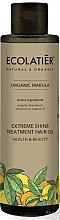 Parfums et Produits cosmétiques Huile bio de marula et d'amande pour cheveux - Ecolatier Organic Marula Extreme Shine Treatment Hair Oil