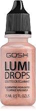 Parfums et Produits cosmétiques Gouttes d'enlumineur pour visage - Gosh Lumi Drops Highlighter