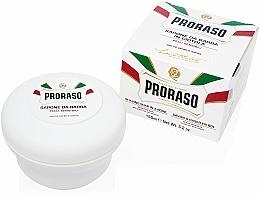 Parfums et Produits cosmétiques Savon à raser en bol au thé vert et avoine pour peaux sensibles - Proraso White Shaving Soap