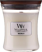 Parfums et Produits cosmétiques Bougie parfumée avec mèche en bois, Magnolia - WoodWick Hourglass Candle Magnolia