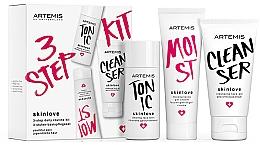 Parfums et Produits cosmétiques Artemis of Switzerland Skinlove 3 Step Daily Routine Kit - Set (gel nettoyant/30ml + lotion tonique nettoyante/30ml + gel-crème/20ml)