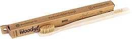 Parfums et Produits cosmétiques Brosse à dents en bambou medium, beige - WoodyBamboo Bamboo Toothbrush Natural