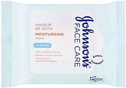 Parfums et Produits cosmétiques Lingettes nettoyantes et hydratantes pour visage, peaux sèches - Johnson's Face Care Wipes Moisturising Dry Skin