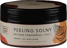 Parfums et Produits cosmétiques Gommage au sel et huile de jojoba pour corps, Orange et Piment - Nature Queen Body Scrub