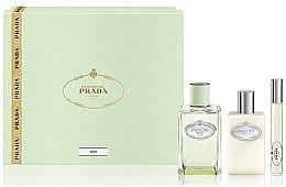 Parfums et Produits cosmétiques Prada Infusion D'Iris - Coffret cadeau (eau de parfum/100ml + lotion corporelle/100ml + eau de parfum/10ml)