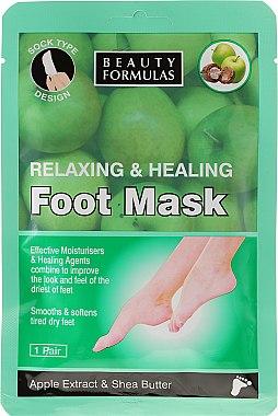 Masque à l'extrait de pomme et beurre de karité pour pieds - Beauty Formulas Relaxing And Healing Foot Mask