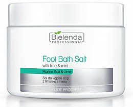 Parfums et Produits cosmétiques Sels de bain à la menthe et lime pour pieds - Bielenda Foot Bath Salt with Lime & Mint
