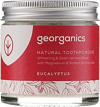 Parfums et Produits cosmétiques Dentifrice en poudre naturel à l'huile d'eucalyptus - Georganics Eucalyptus Natural Toothpowder