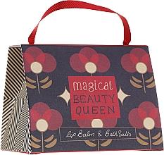 Parfums et Produits cosmétiques Bath House Barefoot & Beautiful Magical Beauty Queen - Coffret cadeau (baume à lèvres/15g + sels de bain/100g)