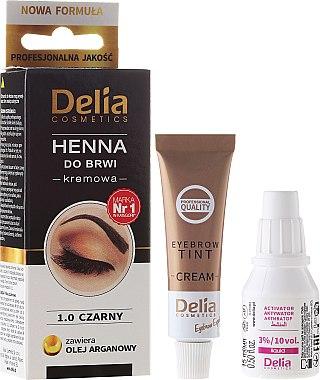 Henné en crème pour sourcils - Delia Cosmetics Cream Eyebrow Dye