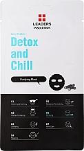 Parfums et Produits cosmétiques Masque tissu au charbon pour visage - Leaders Daily Wonders Detox and Chill Charcoal Purifying Mask