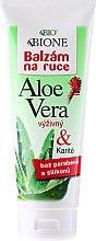 Parfums et Produits cosmétiques Baume à l'aloès et karité pour mains - Bione Cosmetics Aloe Vera Nourishing Hand Ointment With Collagen