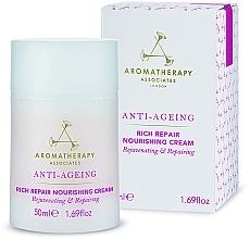 Parfums et Produits cosmétiques Crème à l'huile de patchouli et rose pour visage - Aromatherapy Associates Anti-Ageing Rich Repair Nourishing Cream