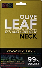 Parfums et Produits cosmétiques Masque tissu à l'extrait de feuille d'olivier pour cou - Beauty Face IST Booster Neck Mask Olive Leaf