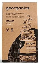 Parfums et Produits cosmétiques Comprimés de bain de bouche au charbon actif (recharge) - Georganics Mouthwash Tablets Refill Pack Activated Charcoal