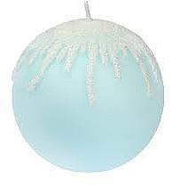Parfums et Produits cosmétiques Bougie décorative, Glaçons pointus bleus, boule, 10 cm - Artman Christmas