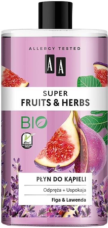 Mousse de bain bio, Figue et Lavande - AA Super Fruits & Herbs Bath Foam