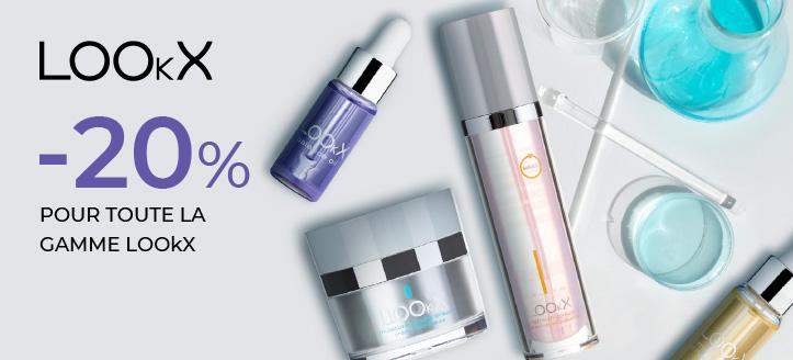 -20% de réduction sur toute la gamme LOOkX. Les prix sur le site sont indiqués avec des réductions