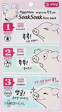 Masque en 3 étapes pour éliminer les points noirs - Mediheal PiggyMom SoakSoak Nose-Pack