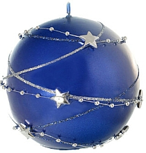 Parfums et Produits cosmétiques Bougie décorative, boule, bleu, 8 cm - Artman Christmas Garland