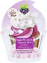 Parfums et Produits cosmétiques Masque bulles liftant pour peaux sèches et matures, Gâteau aux fruits et guimauve - Marion Sweet Mask Marshmallow & Fruit Cake