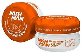Parfums et Produits cosmétiques Gel-cire coiffant - Nishman Hair Styling Gel Wax B2 Sport