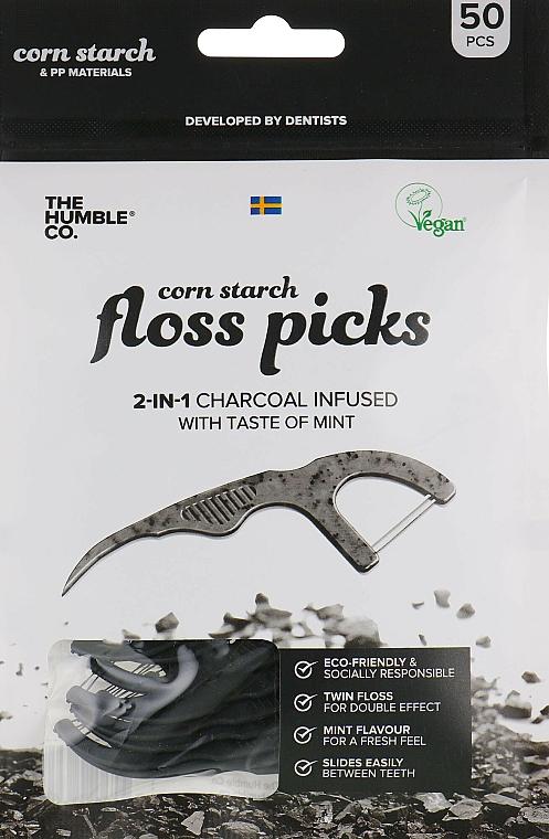 Porte-fils dentaires, noir - The Humble Co. Dental Floss Picks