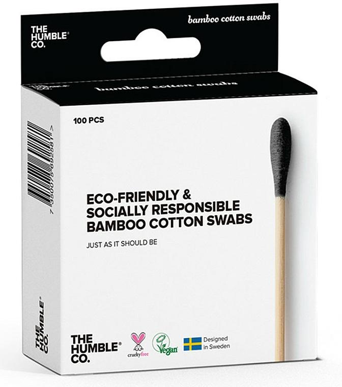Coton-tiges vegan en bambou - The Humble Co. Cotton Swabs Black