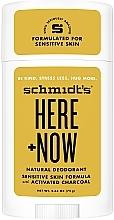 Parfums et Produits cosmétiques Déodorant stick naturel pour peaux sensibles - Schmidt's Here +Now Natural Deodorant