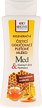 Parfums et Produits cosmétiques Lait nettoyant régénérant au miel et coenzyme Q10 - Bione Cosmetics Honey + Q10 Milk