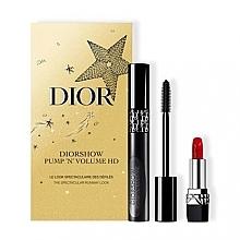 Parfums et Produits cosmétiques Coffret cadeau - Dior Diorshow Pump 'N' Volume HD Gift Set (mascara/6ml+lipstick/1.5g)
