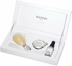 Parfums et Produits cosmétiques Balmain Paris Hair Couture Silver Brush Set Mini - Coffret (h/silk/50ml + brush + mirror)