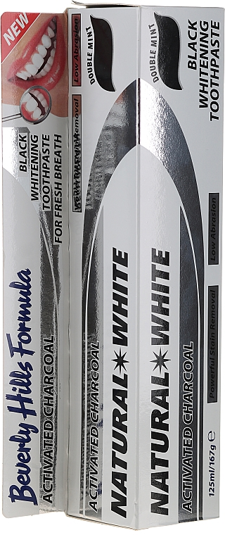 Dentifrice blanchissant au charbon actif - Beverly Hills Formula Charcoal Black Natural White Toothpaste — Photo N1