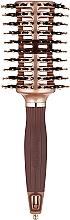 Parfums et Produits cosmétiques Brosse brushing ventillée avec poils mixtes - Olivia Garden Nano Thermic Ceramic + Ion Contour Vent Combo Large