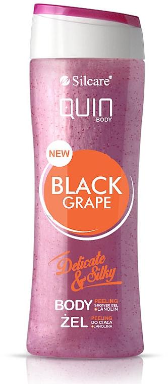 Gel douche exfoliant, Raisin noir - Silcare Quin Peeling Black Grape