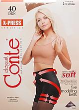Parfums et Produits cosmétiques Collant pour femme, X-press, 40 Den, natural - Conte