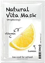 Parfums et Produits cosmétiques Masque tissu à la vitamine C pour visage - Too Cool For School Natural Vita Mask Brightening